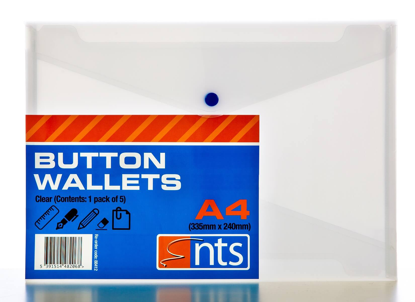NTS Button Wallet Clear