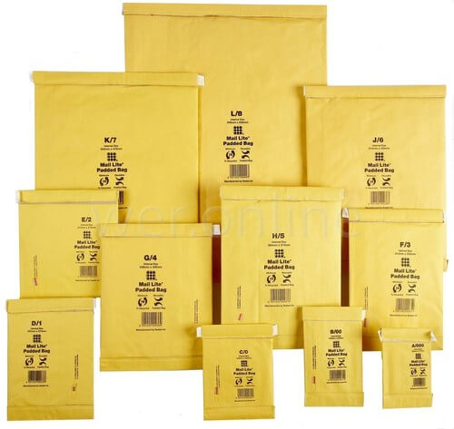 Mail Lite Gold Envelopes